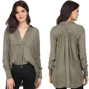 Free People On the Road Strip Pullover